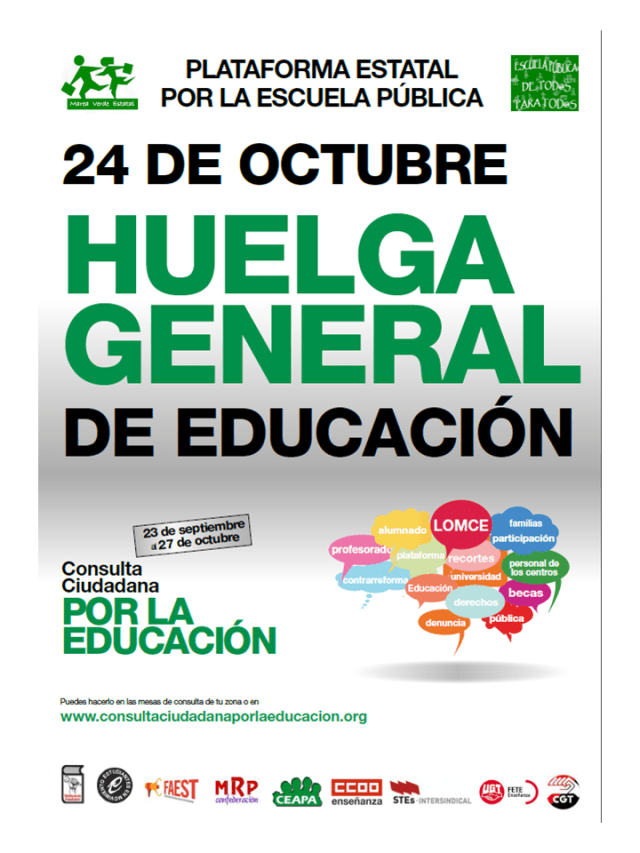 Huelga general educación