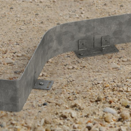 bordure acier galvanise