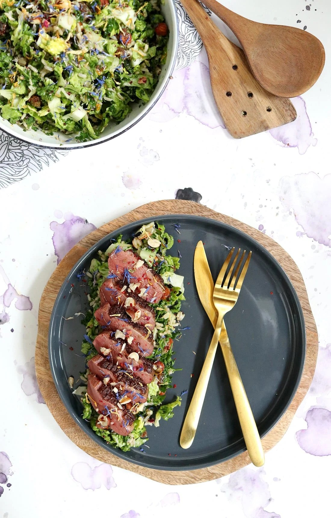 Duck breast and Wild Rice Salad (Salade de Magret du Canard et Son Mélange de Trois Riz)