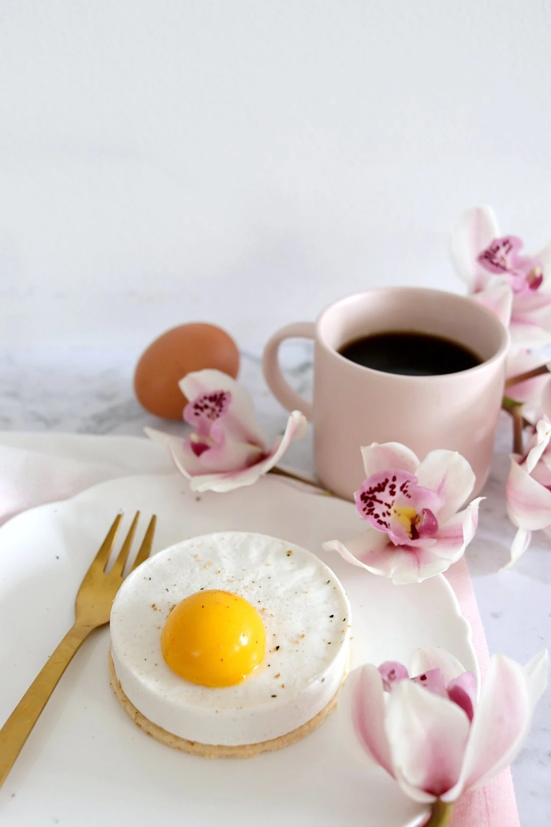 Panna Cotta Fried Egg Tarts