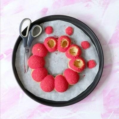 Choux au basilic et aux fraises