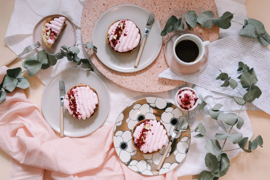 Raspberry and Rose Millefeuille Tartelettes