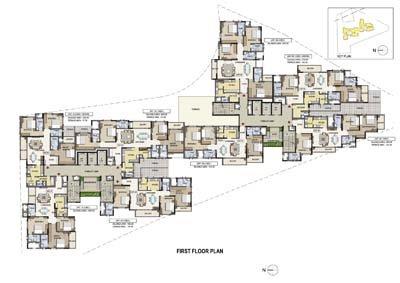 Aparna Elina gated community apartments in yashwantpur first floor plan
