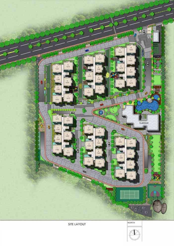 Aparna HillPark Silver Oaks chandanagar apartments site layout