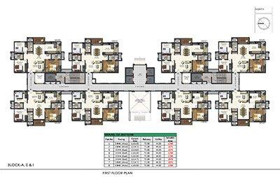 Aparna Sarovar Zenith first floor plan 4
