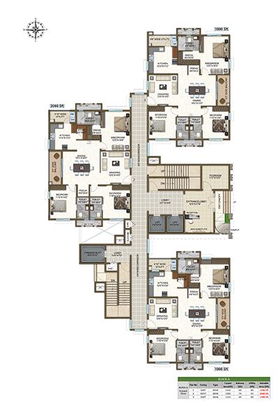 Block A ground floor plan