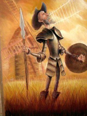 Don Quixote - Tilting at windmills