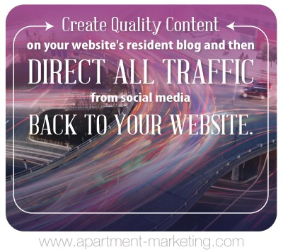 content marketing direct all traffic back to website