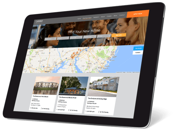Find a Home Search for Property Management Website Design