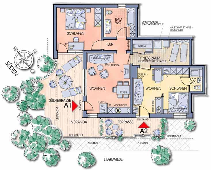 Grundrisse Apartment Oberfeld Ferienwohnungen Apartments