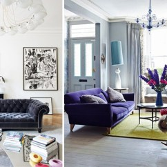 Eclectic Living Room Decor Decorate Games 10 Ideas Apartment Number 4 With Yellow Rug And Purple Velvet Sofa