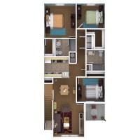 Three Bedroom Apartment Floor Plan - talentneeds.com