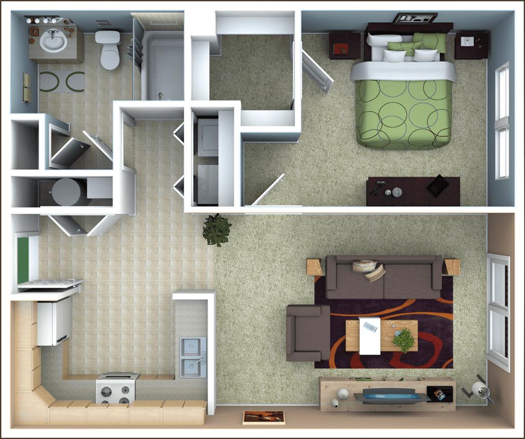 Bedroom Apartment Floor Plan