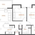 Clean floor plan design