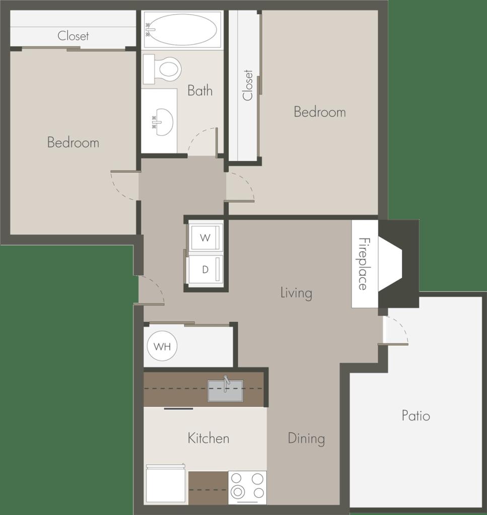 Contemporary floor plan design