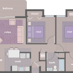 Warm floor plan design