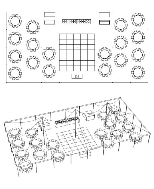 A Party Center Tent Calculator