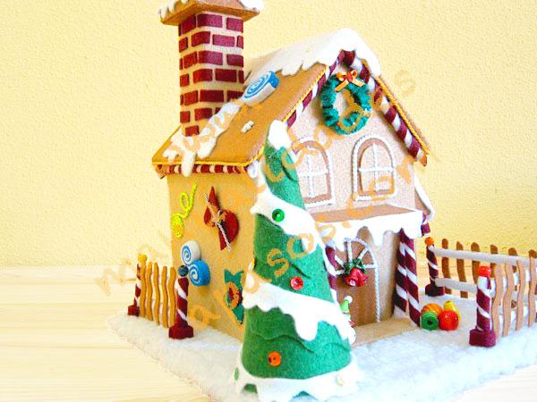Casa de chocolate para navidad