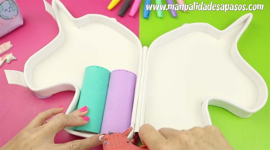 how to make unicorn pencil case