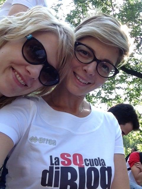 Io e Laura (I viaggi di Serendipity) a SQcuola di Blog