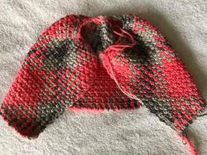 crochet argyle hat, planned pooling