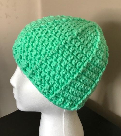 Free Crochet Beanie pattern, Red Heart Baby Hugs Yarn,