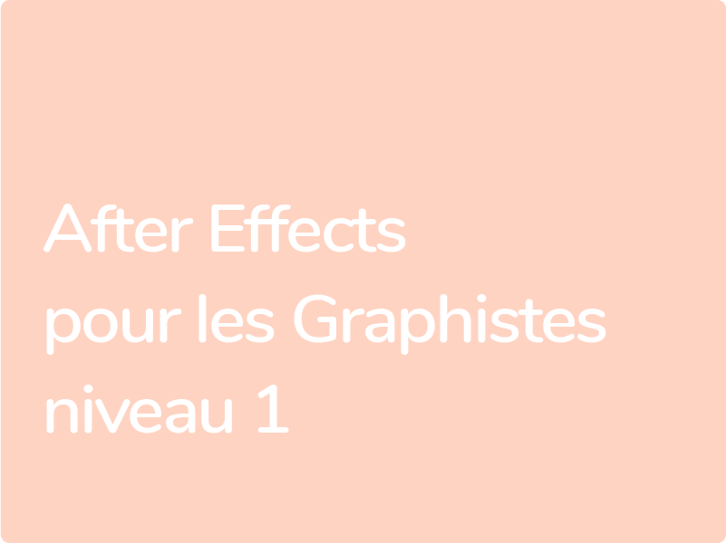 Formation After Effects pour Graphistes : Datavisulation et animation 2D