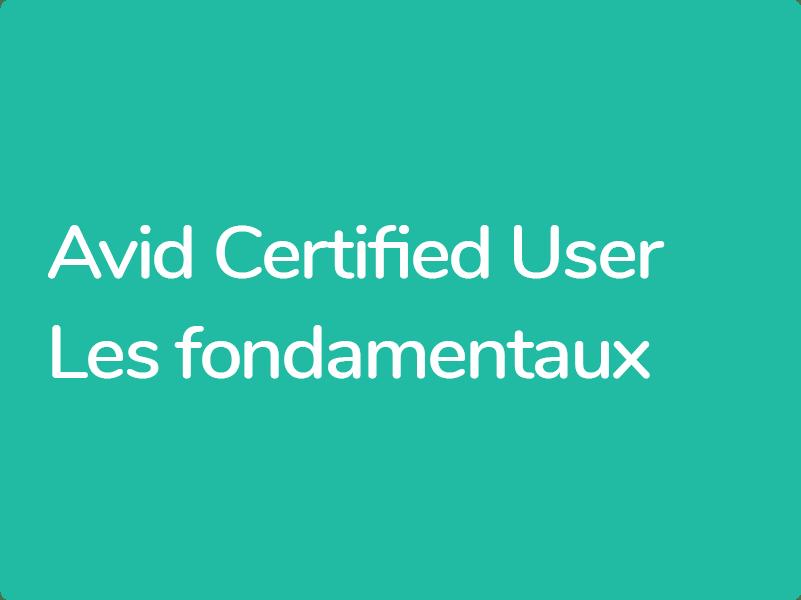 Formation Avid Media Composer Certification Avid Utilisateur Certifié