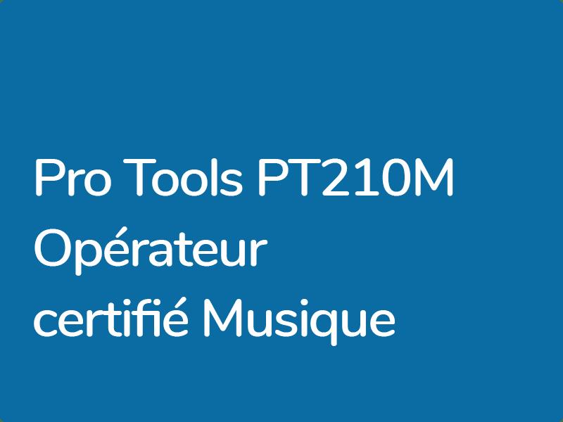 Formations Pro Tools : Pro Tools 201M Opérateur Musique