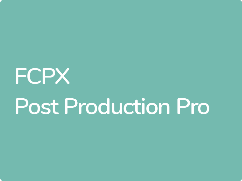 Formation Final Cut Pro X Certification Apple éligible CPF