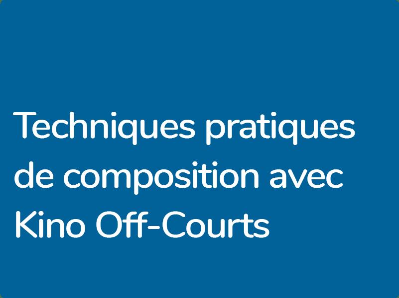 Formation de terrain pour compositeurs de musique de film aguerris en partenariat avec le Off-Courts de Trouville et Kino Caen