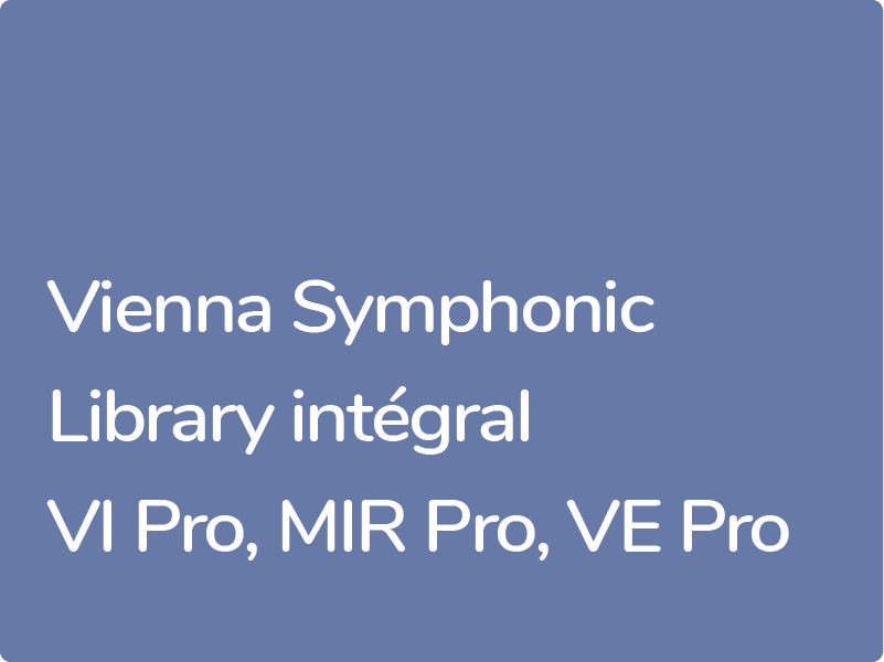 Formation Vienna Symphonic Library expert, librairies Dimension Strings et Synchron Strings.