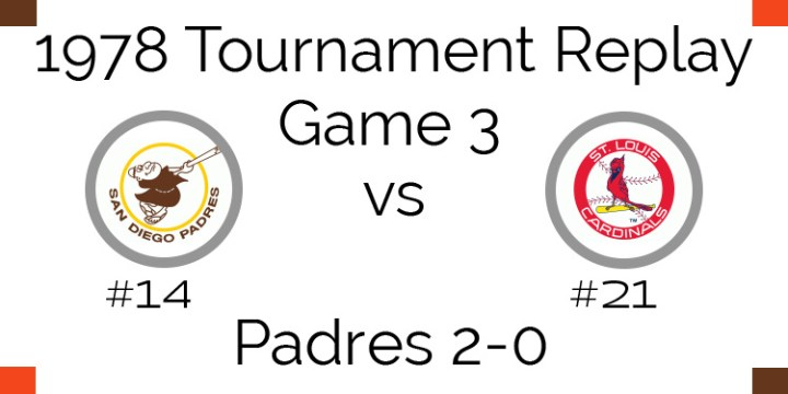Game 3 – 1978 Tournament Replay Padres vs Cardinals