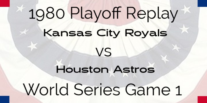 1980 Playoff Replay – World Series – Royals at Astros – Game 1