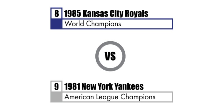 Pennant Winners Tournament 81 Yankees vs 85 Royals