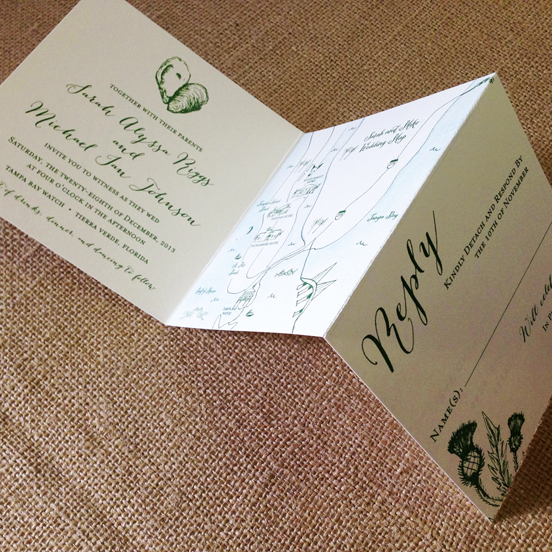 Superb Wedding Invitations With Postcard Rsvp 2 Invitation Tear Off
