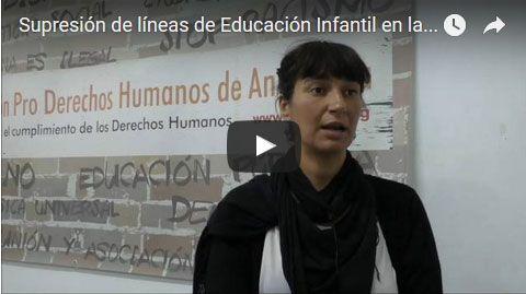 Vídeo supresión líneas educación infantil