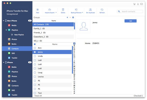 iPhone Transfer for Mac 1.0.6 破解版 - iPhone数据恢复应用