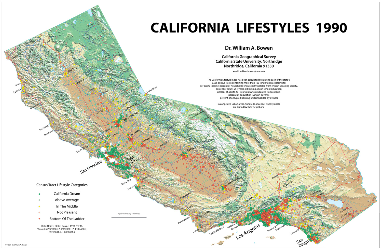 California Map Geography