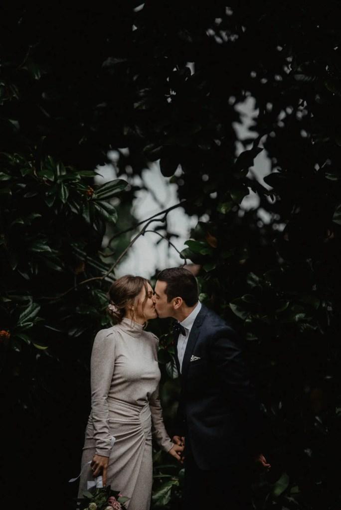 Wedding shot with tree