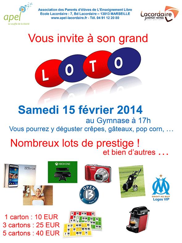 Invitation au loto du 15 février