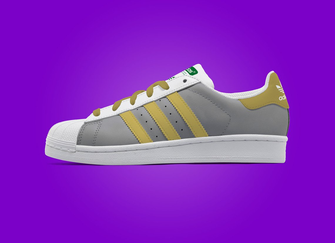 Download Free Adidas Superstar Sneaker Shoe Mockup PSD | Free ...