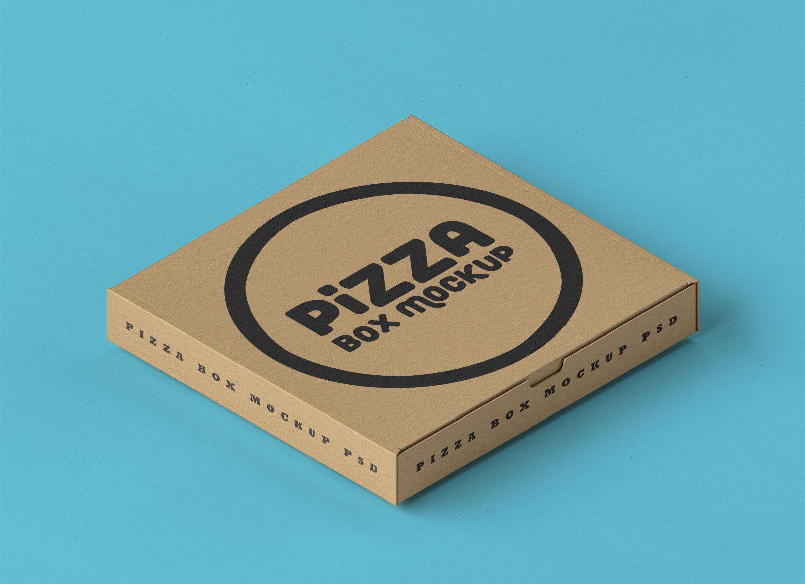 free pizza box psd