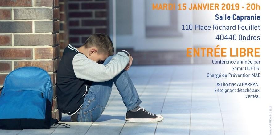 Conférence sur la sensibilisation aux violences entre élèves