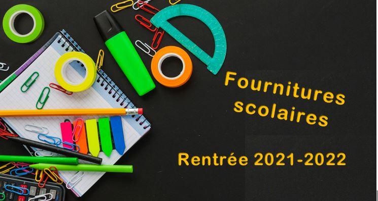 Fournitures scolaires – Rentrée 2021