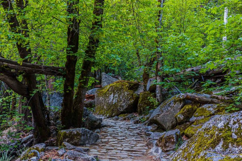 Stone Path on The Mirror Lake Trail In Yosemite National Park