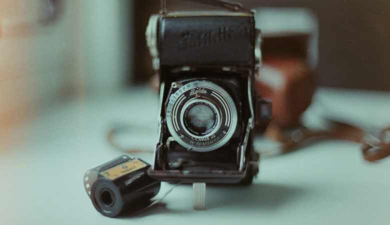 Vintage Camera Equipment and roll of film