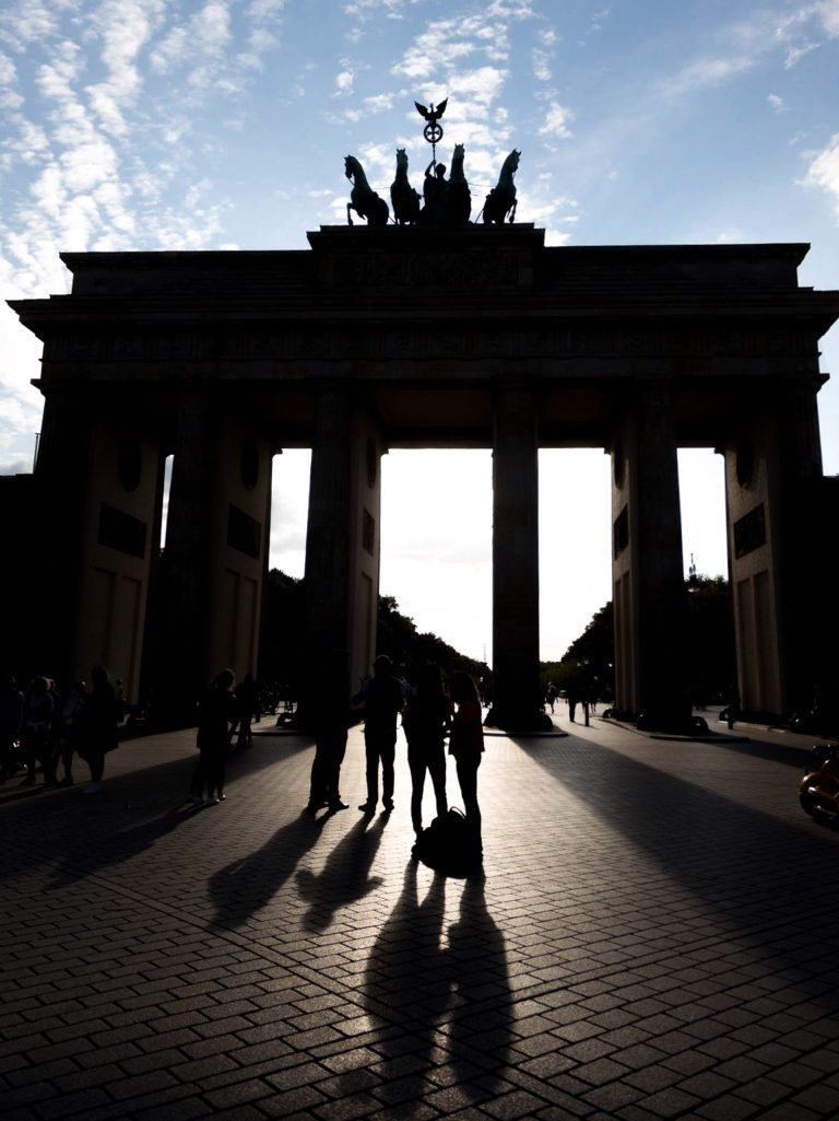 Brandenburg Gate Silhouette Example
