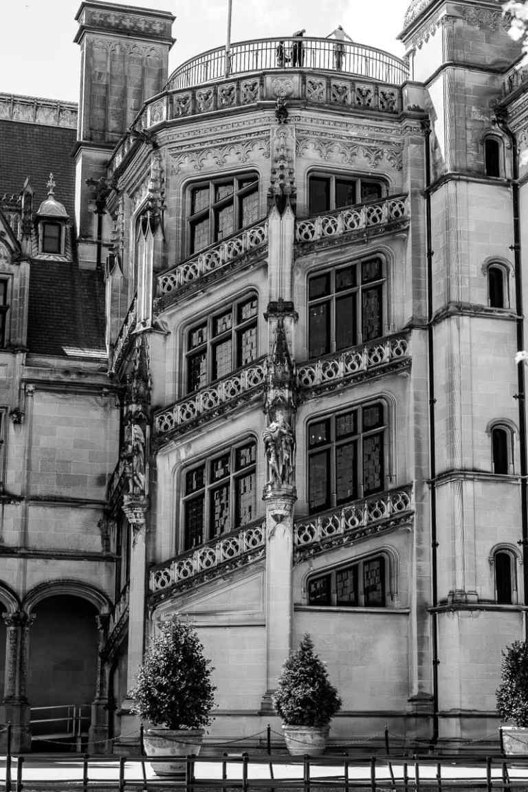 Spiral Windows In Black And White At The Biltmore Estate