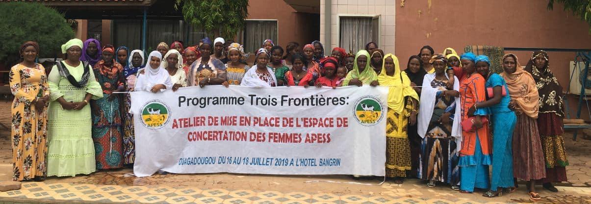 APESS met en place à Ouagadougou des espaces nationaux de concertation des femmes APESS du Burkina, Mali, Niger